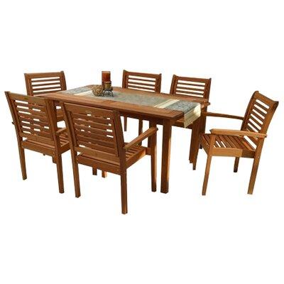 Amazonia 7 Piece Dining Set by International Home Miami