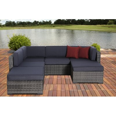 Atlantic 6 Piece Deep Seating Group with Cushions by International Home Miami