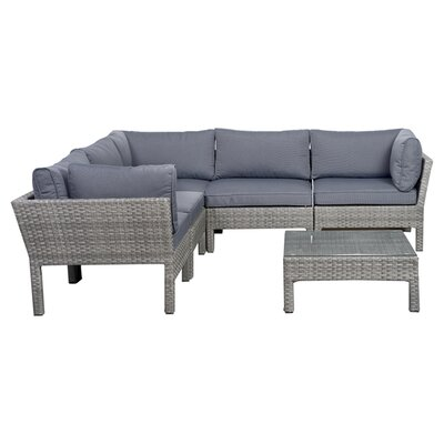 International Home Miami Pacific 6 Piece Seating Group with Cushions