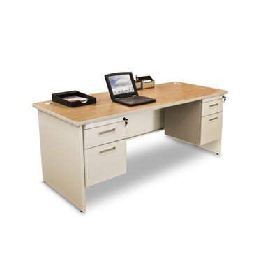 Marvel Office Furniture Pronto Computer Desk with 4 Drawers