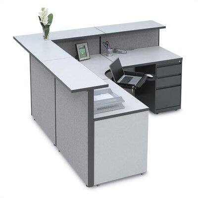 Storlie Large L-Shape Reception Desk