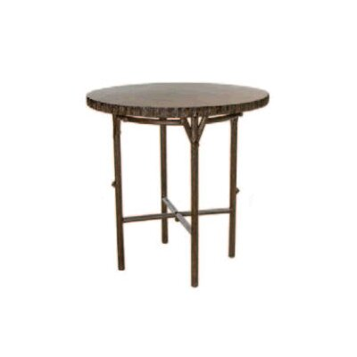 Chatham Run Heartwood Round Bar Table with Faux Top by Whitecraft