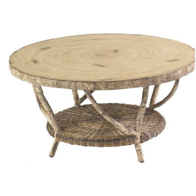 River Run Cocktail Table with Faux Birch Top by Whitecraft