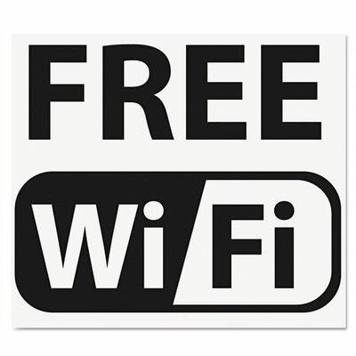 U.S Stamp & Sign Self-Stick Free Wi-Fi-Sign