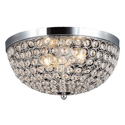 Elegant Designs 2 Light Flush Mount Product Photo
