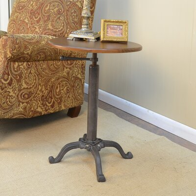 Colton Adjustable Vintage Accent Table by Carolina Cottage