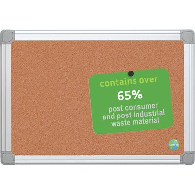 Mastervision Earth Wall Mounted Bulletin Board, 2' x 2'