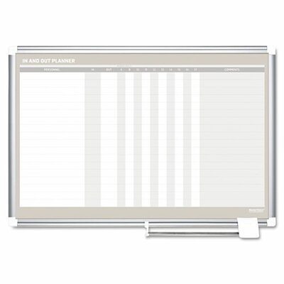 Mastervision In-Out Magnetic Wall Mounted Whiteboard