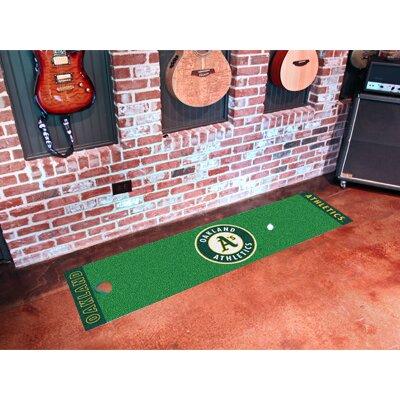 FANMATS MLB Oakland Athletics Golf Putting Doormat