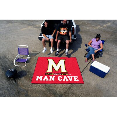 Collegiate University of Maryland Man Cave Tailgater Outdoor Area Rug by FANMATS