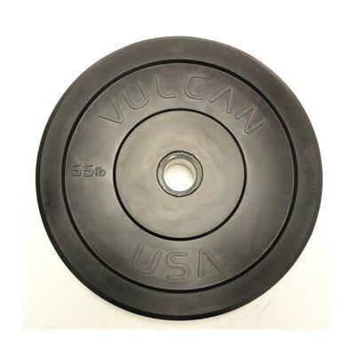 55 lb Black Bumper Plate by Vulcan Strength