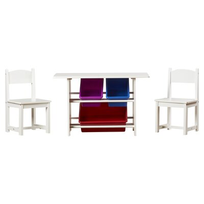 Kids 3 Piece Table and Chair Set by RiverRidge Kids