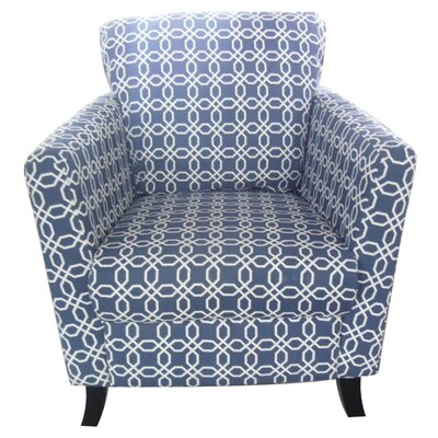 Geometric Arm Chair in Navy Blue/White by Hodedah