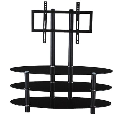 Glass TV Stand with Mount by Hodedah