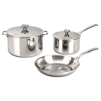 Stainless Steel 5 Piece Cookware Set by Le Creuset