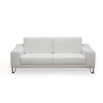 Martini Leather Sofa by Whiteline Imports