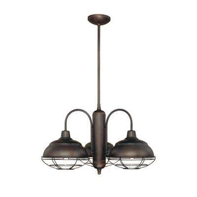 Neo-Industrial 3 Light Chandelier Product Photo
