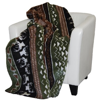 Nordic Deer Double-Sided Throw by Denali
