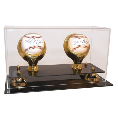 Caseworks International Two Baseball Gold Ring and Risers
