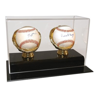 Caseworks International Two Baseball Gold Glove Display Case