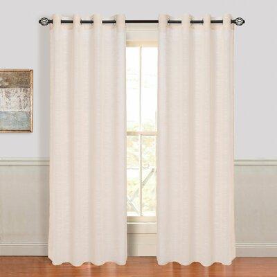 Mia Jacquard Grommet Single Curtain Panel Product Photo