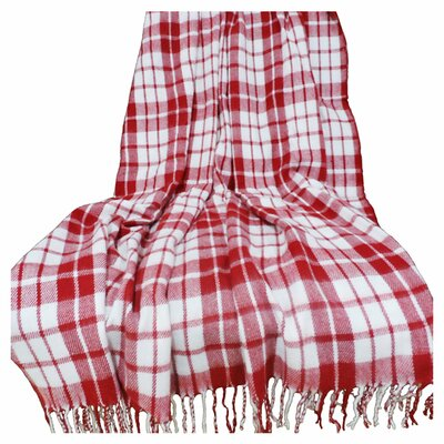 Lavish Home Plaid Throw Blanket