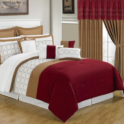 Sarah 24 Piece Bed in a Bag Set by Lavish Home