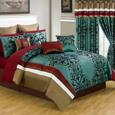 Eve 24 Piece Bed in a Bag Set by Lavish Home
