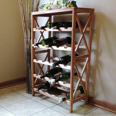 25 Bottle Floor Wine Rack by Lavish Home
