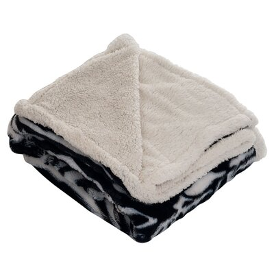 Lavish Home Zebra Throw Blanket