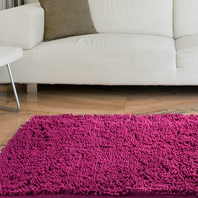 High Pile Pink Solid Area Rug by Lavish Home