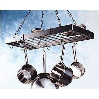 Rectangular Hanging Pot Rack with Grid by Rogar