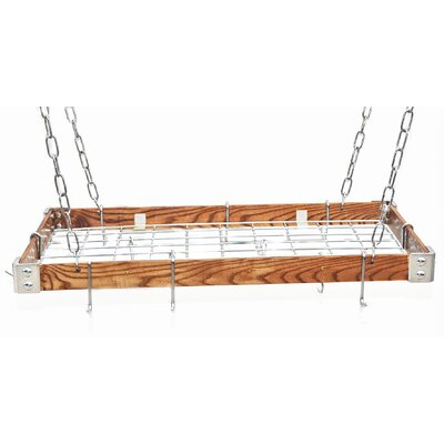 Gourmet Hanging Pot Racks with Metal Accents by Rogar