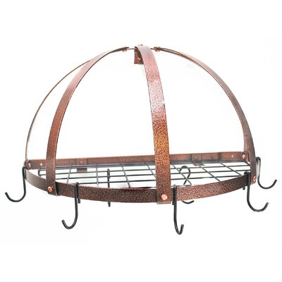 Gourmet Half Dome Wall Mounted Pot Rack with Grid by Rogar