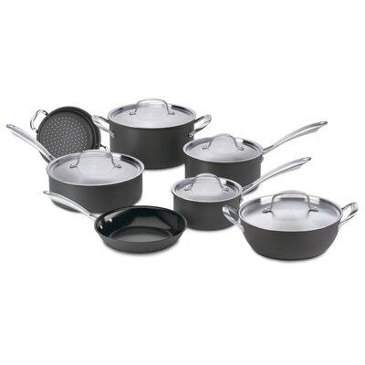 Cuisinart Green Gourmet Hard-Anodized Aluminum 12 Piece Cookware Set