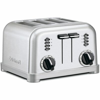 Metal Classic 4-Slice Toaster in Brushed Stainless by Cuisinart