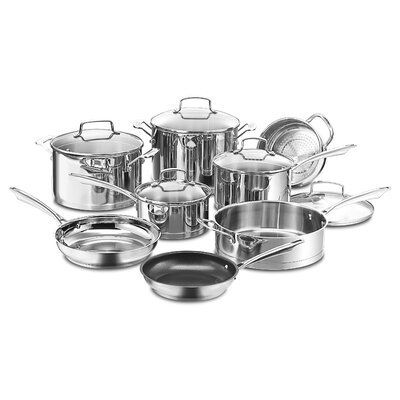 Professional 13 Piece Non-Stick Stainless Steel Cookware Set by Cuisinart