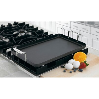"""Cuisinart Chef's Classic Nonstick Hard-Anodized 21"""" Double Burner Griddle"""