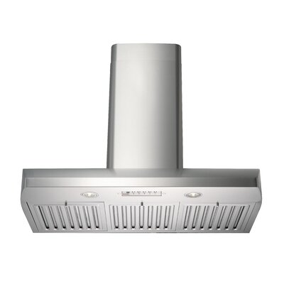 "Premium 35.75"" 280 - 720 CFM Wall Mount Range Hood Product Photo"