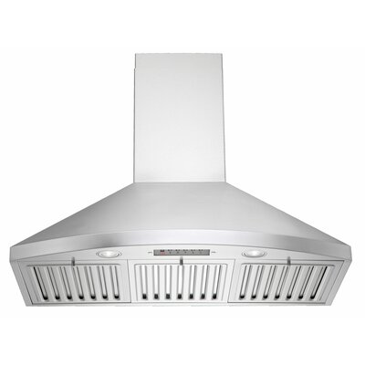 "Premium 35.75""  300 - 750 CFM Wall Mount Range Hood Product Photo"