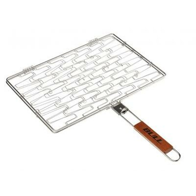 Stainless Rectangle Flexi Grilling Basket by Bull Outdoor