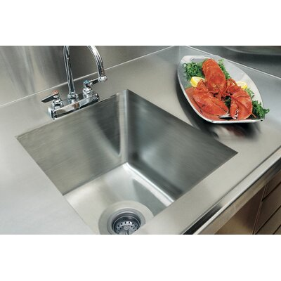 "20"" x 16"" Integral Single Bowl Kitchen Sink Product Photo"