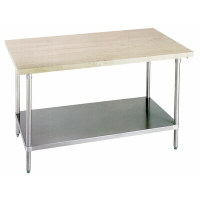 Prep Table with Wood Top Product Photo