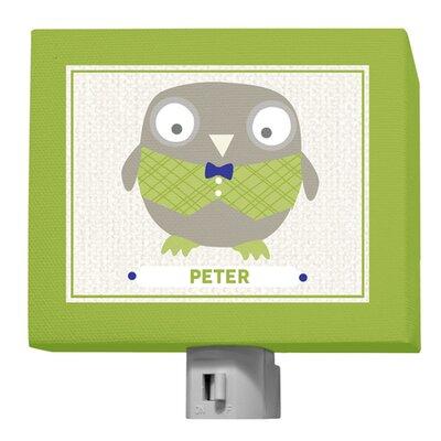 Happy Owl Peter Night Light by GreenBox Art