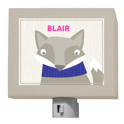 Happy Fox Blair Night Light by GreenBox Art