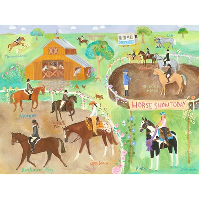 Horse Show Canvas Art by Oopsy Daisy