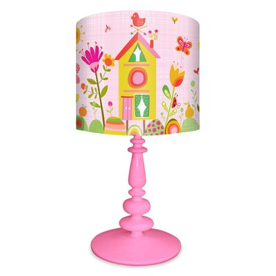 "Oopsy Daisy Bloomin' Birdies 21"" H Table Lamp with Drum Shade"
