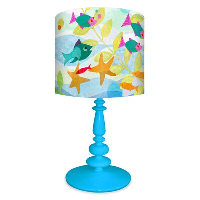 """Oopsy Daisy Friendly Fish 21"""" H Table Lamp with Drum Shade"""