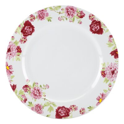 """Kathy Ireland by Gorham Blossoming Rose 11"""" Dinner Plate"""