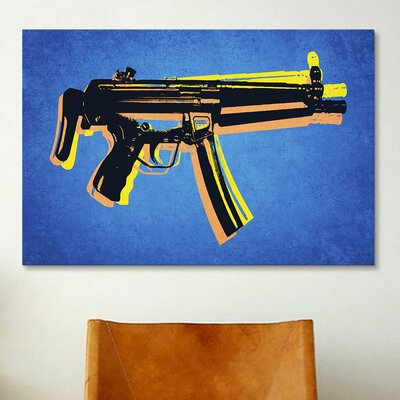 iCanvas 'MP5 SubMachine Gun' by Michael Tompsett Graphic Art on Canvas